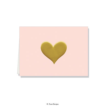 Heart Blush Folded Note