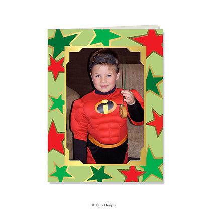 Celebration Stars Photo Card Blank Only
