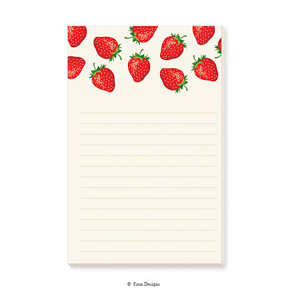 Strawberries Memo Pad