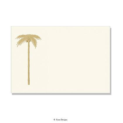 Gold Palm Tree on Ivory Invitation - Blank