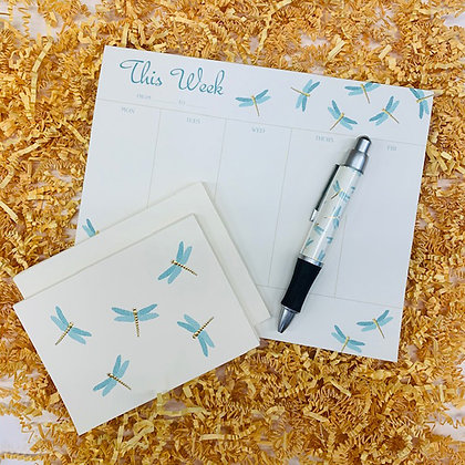 Dragonfly Weekly Pad & Folded Note Set