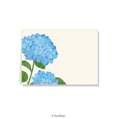 Hydrangea Folded Note