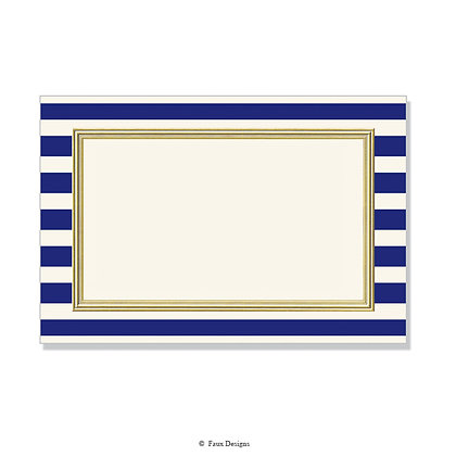 Polo Navy Blue Invitation - Blank
