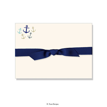 Whimsical Anchors Petite Note