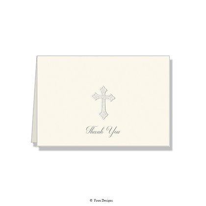 Thank You - Pearl Cross on Ivory