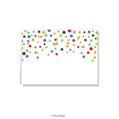 Confetti Folded Note