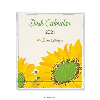2021 Desk Calendar Sunflower