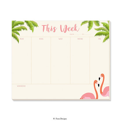 Flamingo Weekly Pad