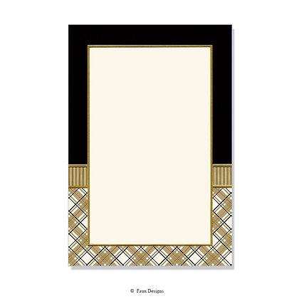 Academy Black, Gold Invitation - Blank