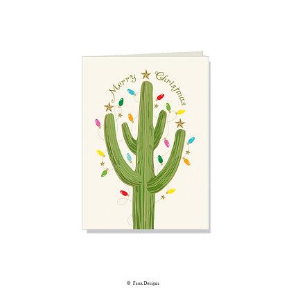 Merry Christmas - Holiday Cactus
