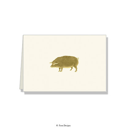 Pig Folded Note