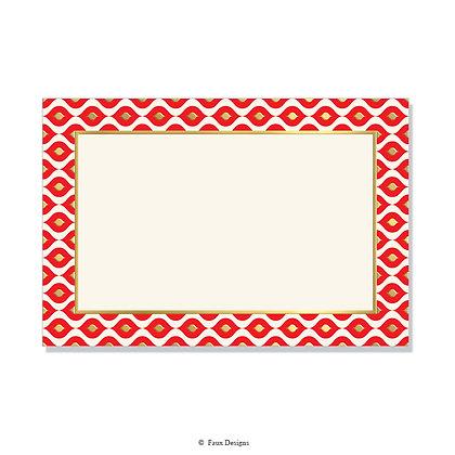 Mendoza Red Invitation - Blank