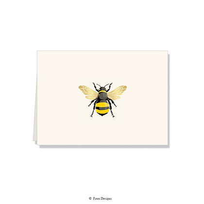 Bumble Bee Folded Note