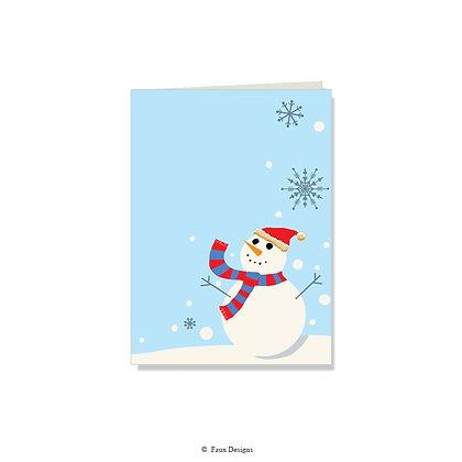 Frosty Folded Note