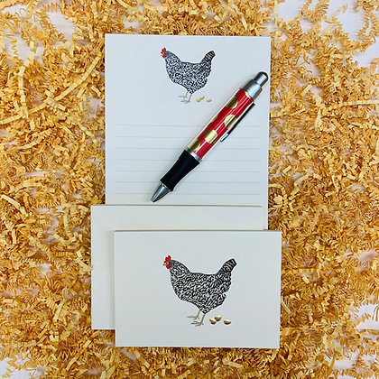 Hen Memo Pad & Folded Note Set