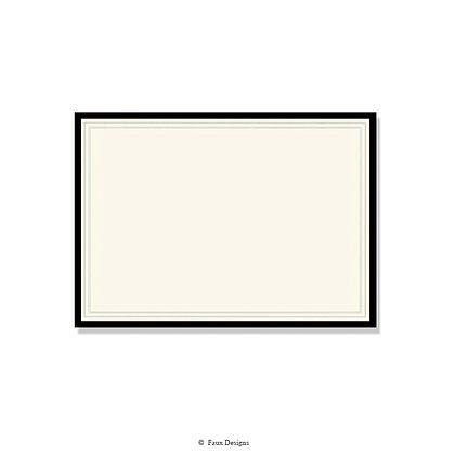 Exeter Black Invitation - Blank