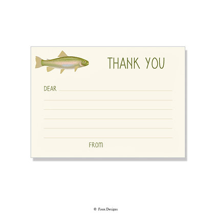 Trout Fill-in Thank You Note