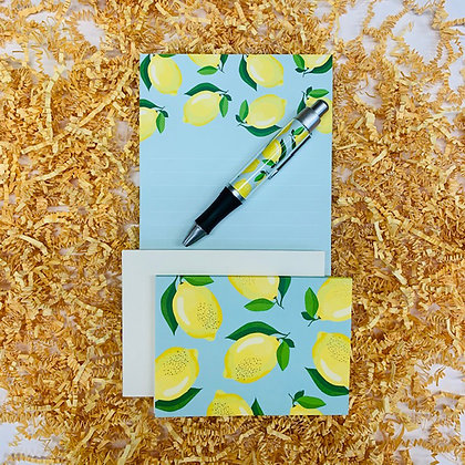 Lemons Memo Pad & Folded Note Set