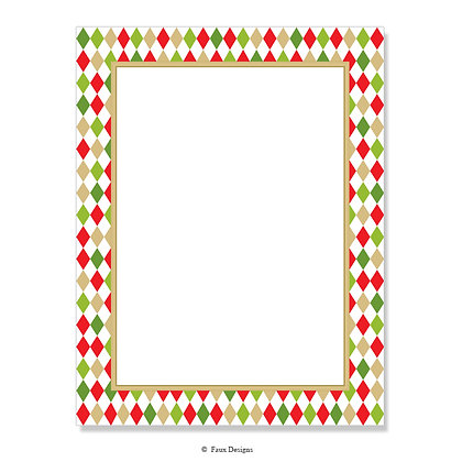 Belvedere Red & Green 8.5 x 11 Sheet