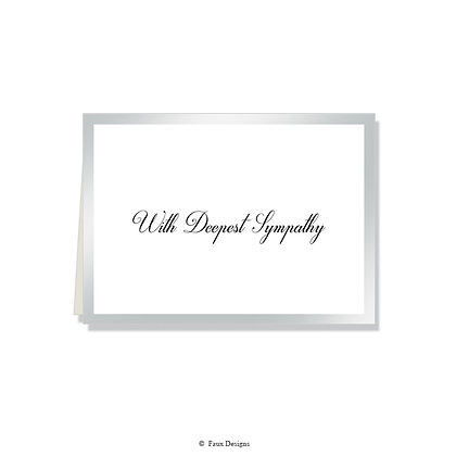 With Deepest Sympathy - CB Silver on White
