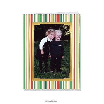 Yuletide Stripes Photo Card
