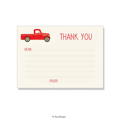 Truck Fill-in Thank You Note