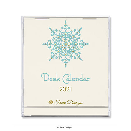 2021 Desk Calendar Snowflake