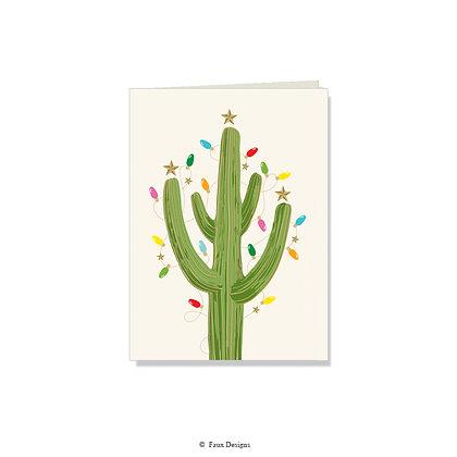 Holiday Cactus Folded Note