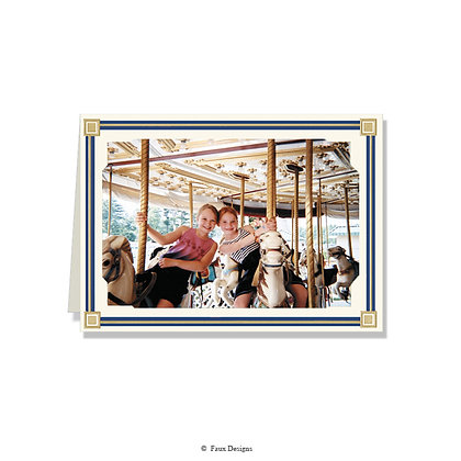 Simplicity Blue 5 x 7 Photo Card - Greeted ONLY
