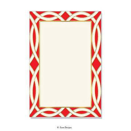 Newport Red Invitation - Blank