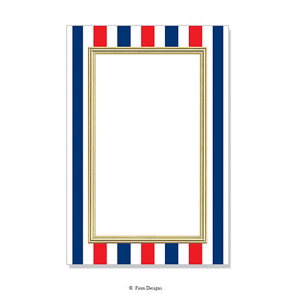 Red, White & Blue Stripes Invitation - Blank
