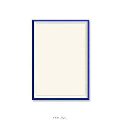 Exeter Navy Blue Invitation - Blank