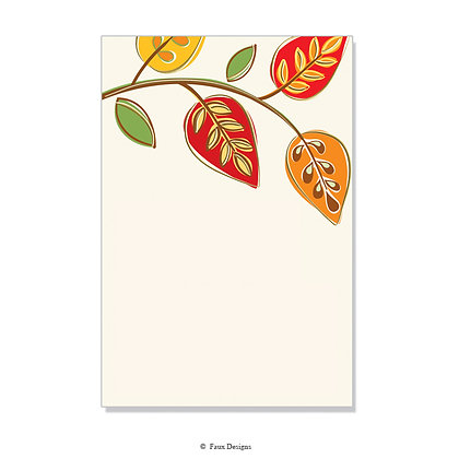 Arboretum Red, Orange, Yellow  Invitation - Blank