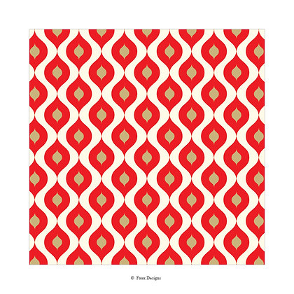 Mendoza Red Gift Wrap