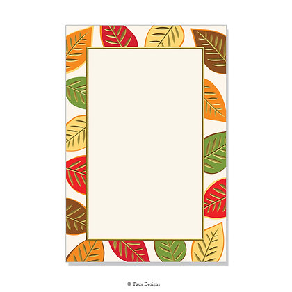 Berkshire Red, Orange, Brown Invitation - Blank