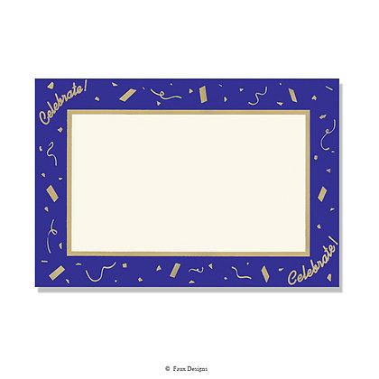 Celebrate Purple Tinsel Invitation - Blank