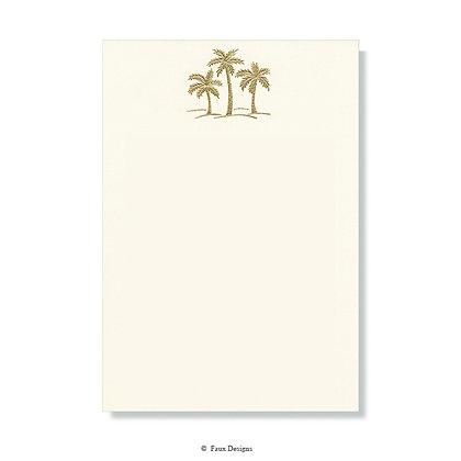 Three Gold Palm Trees on Ivory Invitation - Blank