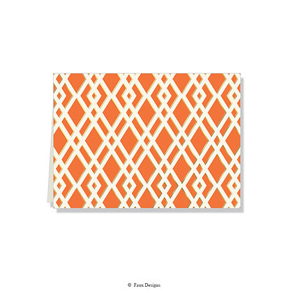 Trellis Coral Folded Note