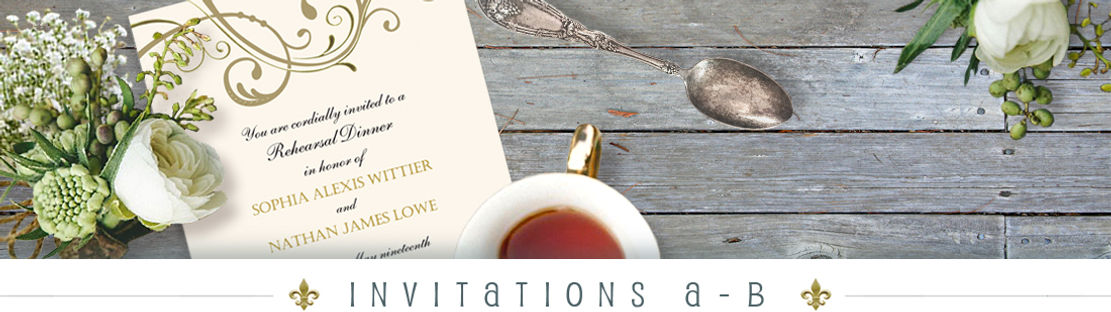 A - B Invitations
