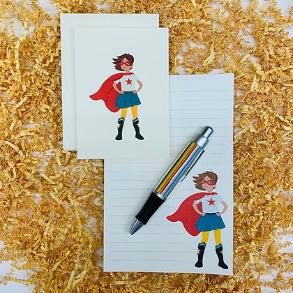Wonder Girl Memo Pad & Folded Note Set