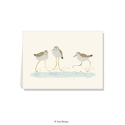 Plovers Folded Note