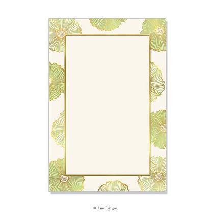 Primrose Light Green Invitation - Blank