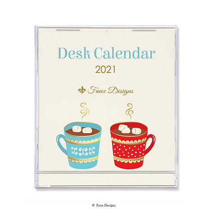 2021 Desk Calendar Hot Cocoa