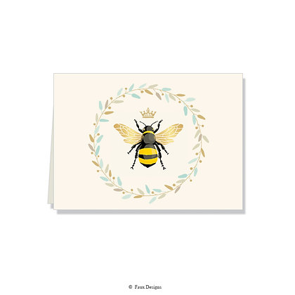 Queen Bee Folded Note