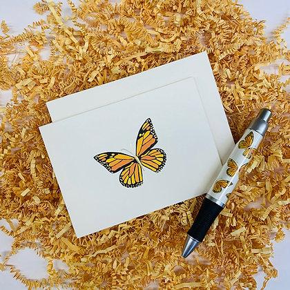 Butterfly Folded Note & Pen Set
