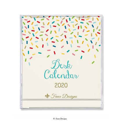 2020 Desk Calendar Sprinkles