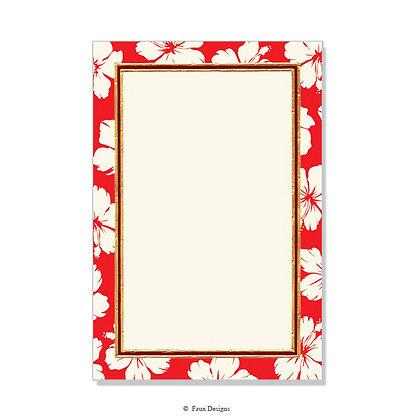 Hibiscus Red Invitation - Blank