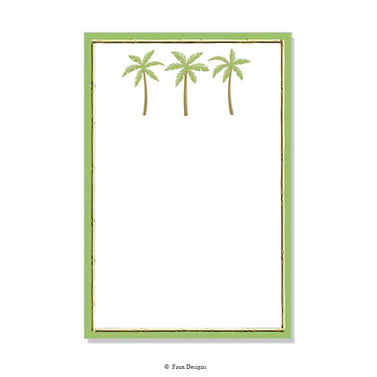Palm Trees with Border Invitation - Blank