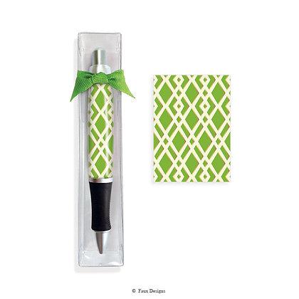 Trellis Green Pen