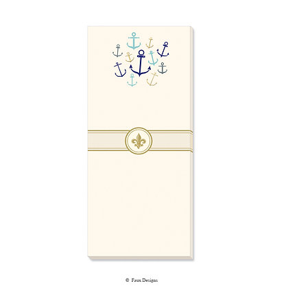 Whimsical Anchors Gift Pad